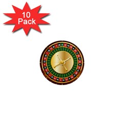 Casino Roulette Clipart 1  Mini Magnet (10 Pack)  by BangZart