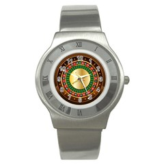 Casino Roulette Clipart Stainless Steel Watch by BangZart