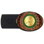 Casino Roulette Clipart USB Flash Drive Oval (4 GB) Front