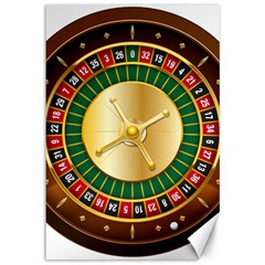 Casino Roulette Clipart Canvas 12  X 18   by BangZart