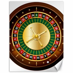 Casino Roulette Clipart Canvas 18  X 24   by BangZart