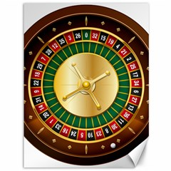 Casino Roulette Clipart Canvas 36  X 48   by BangZart