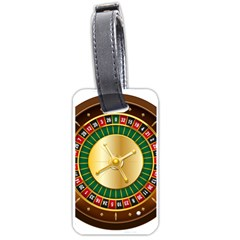 Casino Roulette Clipart Luggage Tags (one Side)  by BangZart