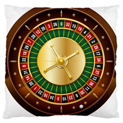 Casino Roulette Clipart Large Cushion Case (two Sides) by BangZart