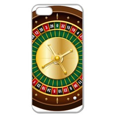 Casino Roulette Clipart Apple Seamless Iphone 5 Case (clear) by BangZart