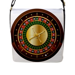 Casino Roulette Clipart Flap Messenger Bag (l)  by BangZart