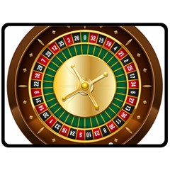 Casino Roulette Clipart Double Sided Fleece Blanket (large)  by BangZart