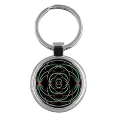 Abstract Spider Web Key Chains (round)  by BangZart