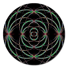 Abstract Spider Web Magnet 5  (round)