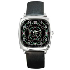 Abstract Spider Web Square Metal Watch by BangZart