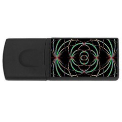 Abstract Spider Web Rectangular Usb Flash Drive by BangZart