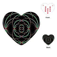 Abstract Spider Web Playing Cards (heart)  by BangZart