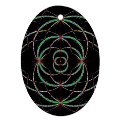 Abstract Spider Web Oval Ornament (two Sides) by BangZart