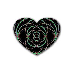 Abstract Spider Web Rubber Coaster (heart)