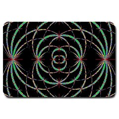 Abstract Spider Web Large Doormat  by BangZart