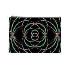 Abstract Spider Web Cosmetic Bag (large)  by BangZart