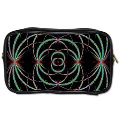 Abstract Spider Web Toiletries Bags 2 Side