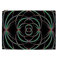 Abstract Spider Web Cosmetic Bag (xxl)  by BangZart