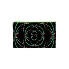 Abstract Spider Web Cosmetic Bag (xs) by BangZart