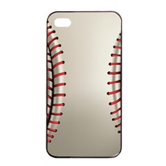 Baseball Apple Iphone 4/4s Seamless Case (black) by BangZart