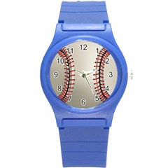 Baseball Round Plastic Sport Watch (s) by BangZart