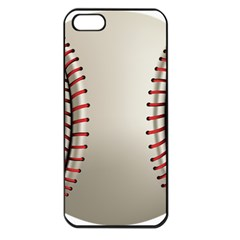 Baseball Apple Iphone 5 Seamless Case (black) by BangZart