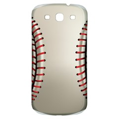 Baseball Samsung Galaxy S3 S Iii Classic Hardshell Back Case by BangZart