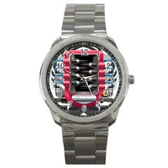 Car Engine Sport Metal Watch by BangZart