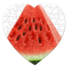 Piece Of Watermelon Jigsaw Puzzle (heart) by BangZart