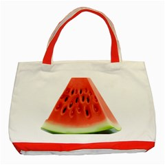 Piece Of Watermelon Classic Tote Bag (red) by BangZart