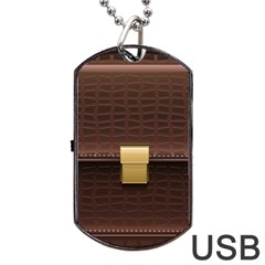 Brown Bag Dog Tag Usb Flash (one Side)