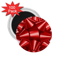 Red Bow 2 25  Magnets (100 Pack)  by BangZart