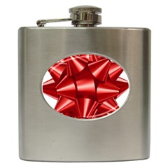 Red Bow Hip Flask (6 Oz) by BangZart