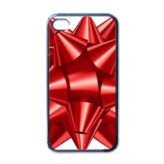 Red Bow Apple Iphone 4 Case (black) by BangZart