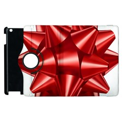 Red Bow Apple Ipad 2 Flip 360 Case by BangZart