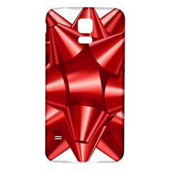 Red Bow Samsung Galaxy S5 Back Case (white)