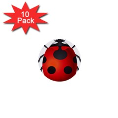 Ladybug Insects 1  Mini Buttons (10 Pack)  by BangZart