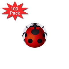 Ladybug Insects 1  Mini Buttons (100 Pack)  by BangZart