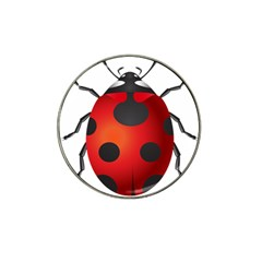 Ladybug Insects Hat Clip Ball Marker (10 Pack) by BangZart