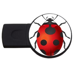 Ladybug Insects Usb Flash Drive Round (4 Gb) by BangZart