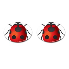 Ladybug Insects Cufflinks (oval) by BangZart