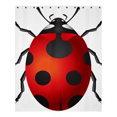 Ladybug Insects Shower Curtain 60  X 72  (medium)  by BangZart