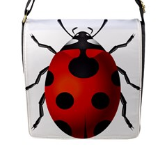 Ladybug Insects Flap Messenger Bag (l)