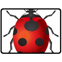 Ladybug Insects Double Sided Fleece Blanket (large)  by BangZart