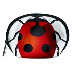 Ladybug Insects Accessory Pouches (medium)  by BangZart