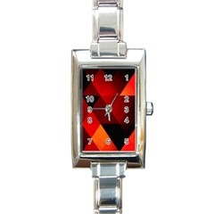 Abstract Triangle Wallpaper Rectangle Italian Charm Watch