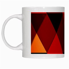 Abstract Triangle Wallpaper White Mugs by BangZart