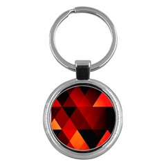 Abstract Triangle Wallpaper Key Chains (round)  by BangZart