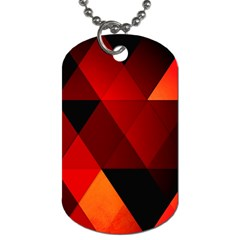 Abstract Triangle Wallpaper Dog Tag (two Sides) by BangZart