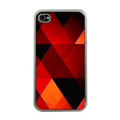 Abstract Triangle Wallpaper Apple Iphone 4 Case (clear) by BangZart